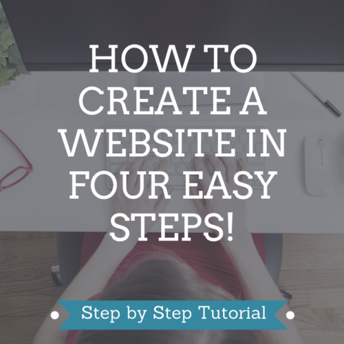 How to create a website in 4 easy steps