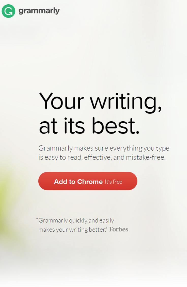 Blogging Tip – Grammarly