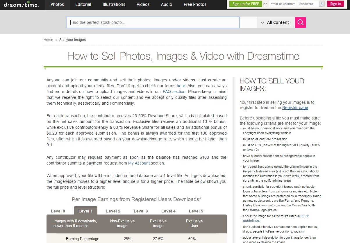 dreamstime_selling